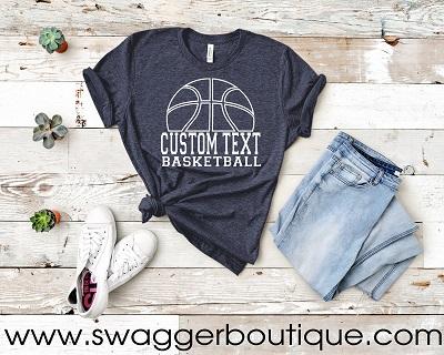 Basketball Custom Text