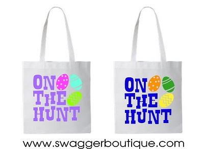On the Hunt Easter Tote